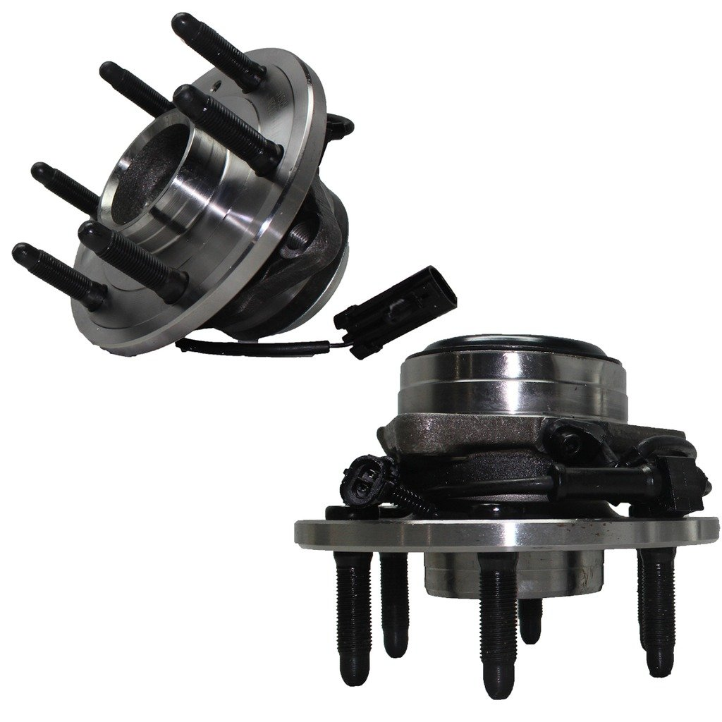 Detroit Axle 2WD Only 6-Lug Front Driver and Passenger Side Wheel Hub and Bearing Assembly for - 2WD Only 2000-2006 Silverado 1500, Sierra 1500, Yukon No Denali or Z71 by Detroit Axle