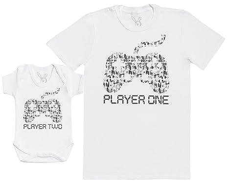 Player One   Player Two - Ensemble Père Bébé Cadeau - Hommes T-Shirt   Body  bébé  Amazon.fr  Vêtements et accessoires 26343d5f8e0