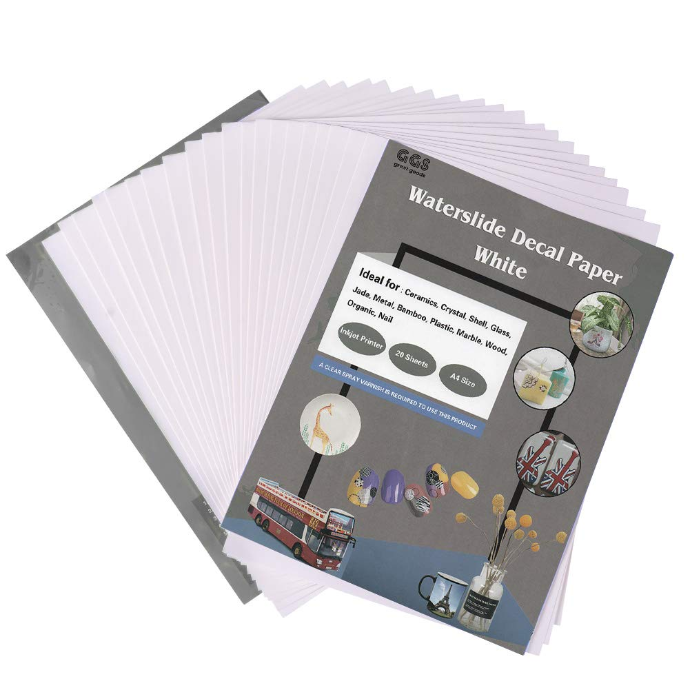 Waterslide Decal Paper Inkjet White A4 Size 20 Sheets, Transfer Paper Quick  Drying for Inkjet Printer, Water Decal Printing Paper for DIY Personalized  Gifts- Buy Online in Pakistan at desertcart.pk. ProductId : 204835904.