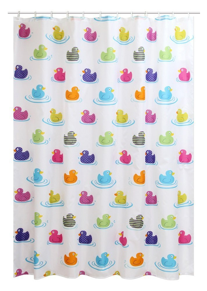 TechXtyle PEVA Shower Curtain 180x180cm Multi-colour Duck Eme multi