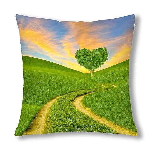 Kinhevao Árbol Verde en Forma de corazón de fantasía en un ...