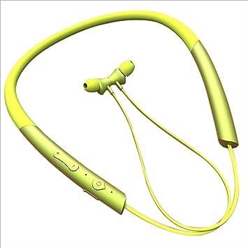 QIHANGCHEPIN Auriculares inalámbricos Bluetooth para Deportes Auriculares con Doble Enganche, Reproducción Continua Las 24 Horas, Tecnología Bluetooth 4.2, ...