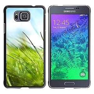"""For Samsung Galaxy Alpha G850 , S-type Macro Naturaleza Hierba"""" - Arte & diseño plástico duro Fundas Cover Cubre Hard Case Cover"""