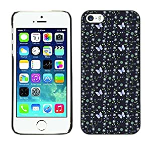 PatternViking PC Polycarbonate Aluminium Back Case Cover Apple iPhone 5 / 5S ( blue butterfly )