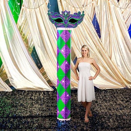 Shindigz 9 ft. Mardi Gras Harlequin Column ()