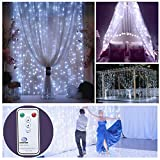Outop 304LED 9.8FT Remote Controller Window Curtain Lights 8 Modes Wedding Lights for Home Party (White) Review