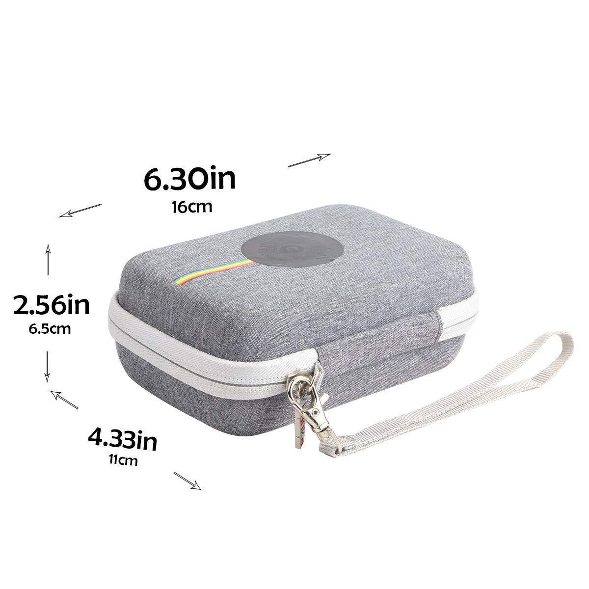 Khanka EVA custodia viaggi borsa portaoggetti per Polaroid Snap Touch 2.0 //Snap Touch Fotocamera digitale a stampa istantanea Zink Zero portatile. cerniera viola