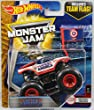 2017 Hot Wheels Monster Jam 1:64 Scale Truck with Team Flag - Captain America