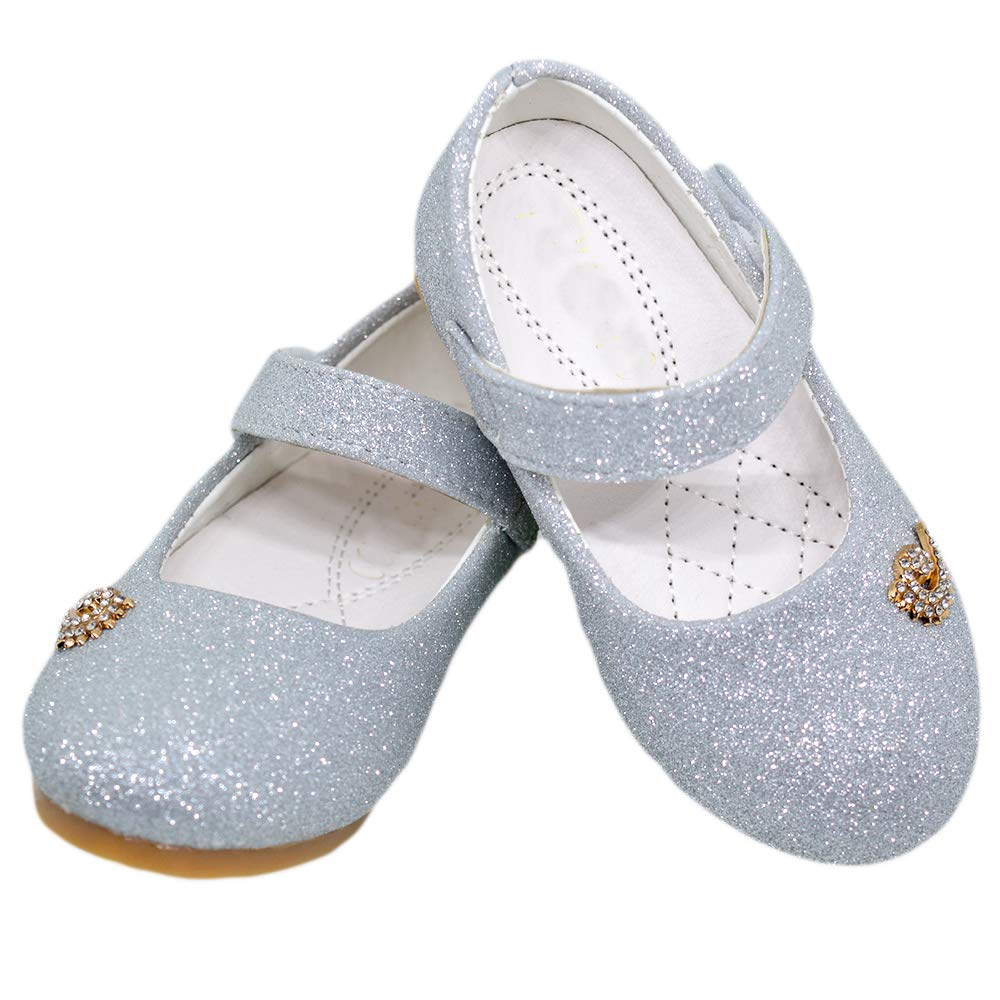 Mishlee Baby Girl Booties-Silver Color