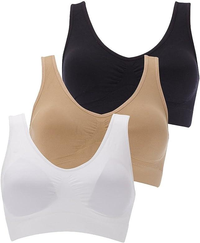 Women Seamless Sports Gym Bra Crop Top Vest Soft Comfort Stretch Bras Shapewear