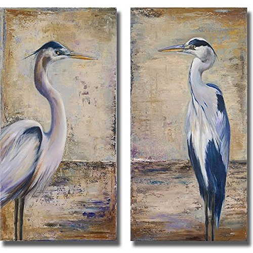 Artistic Home Gallery 1224679S Blue Heron I & II by Patricia Pinto Premium Stretched Canvas Wall Art Set - 2 Piece from Artistic Home Gallery