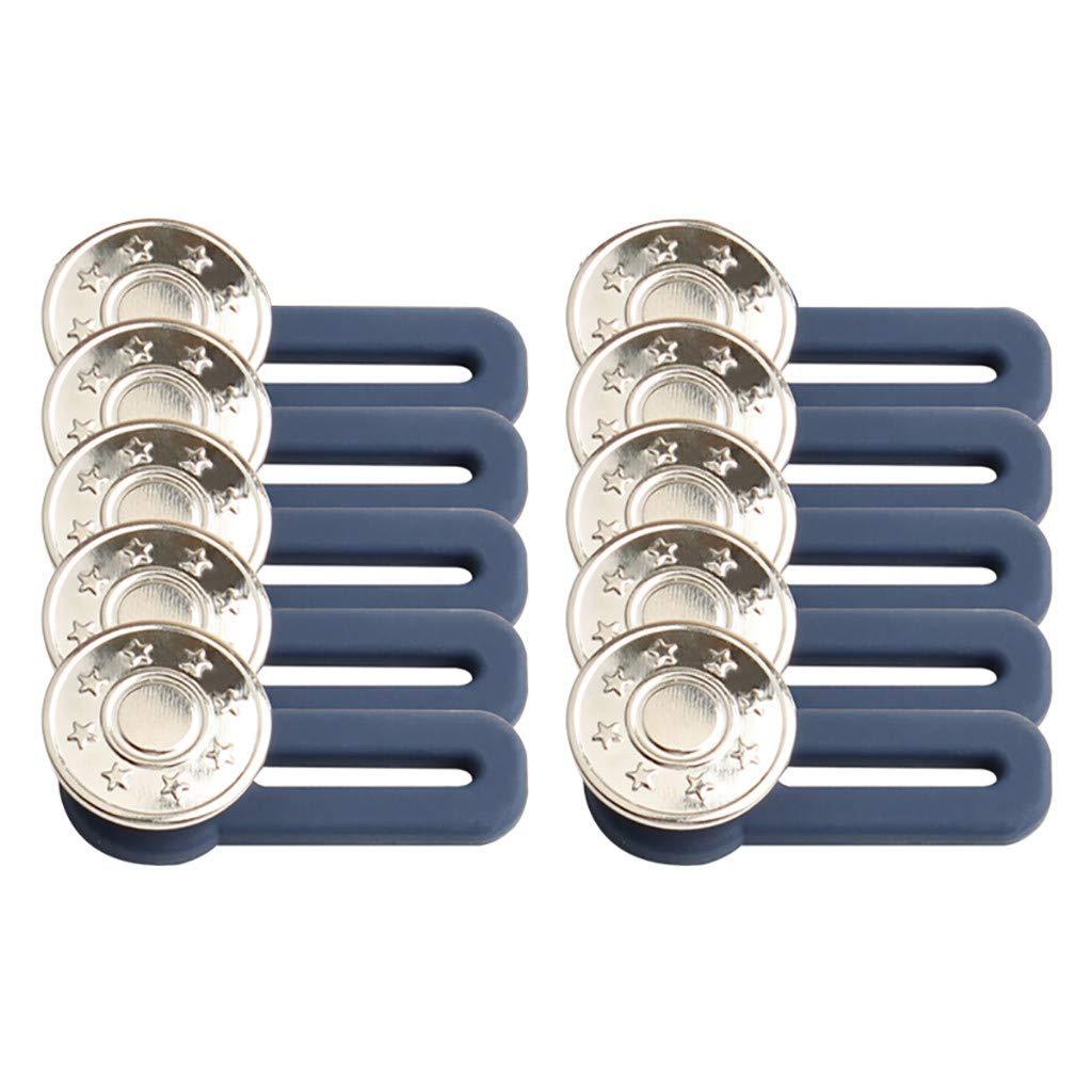 LLguz Extendable Buttons Pants Waist Extension Button for Jeans Clothes,Nail-Free Detachable,10 Packs