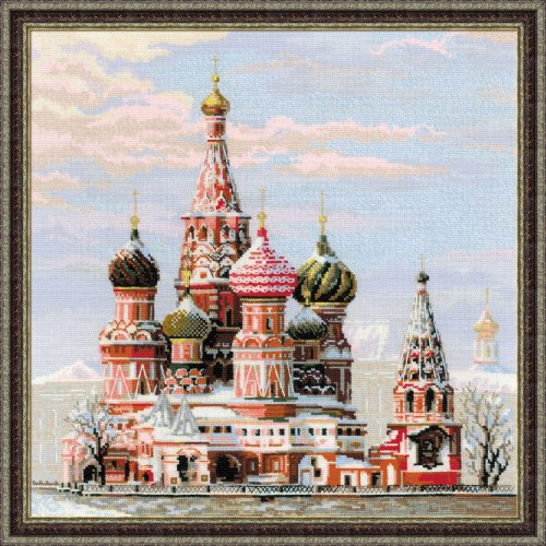 moscow basil cathedral counted cross