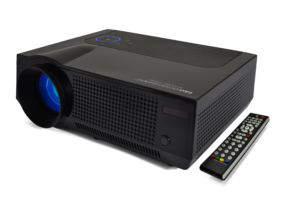 FAVI LED LCD HD 720p Video Projector, Black (RIOHDLED4T-US8)