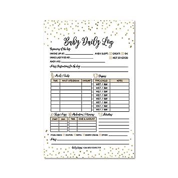 Nanny Newborn Baby Or Toddler Log Tracker Journal Book