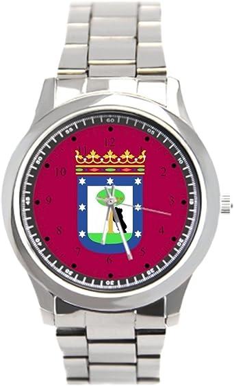 cnbluer Relojes de Bandera de Madrid España (Ciudad): Amazon.es ...