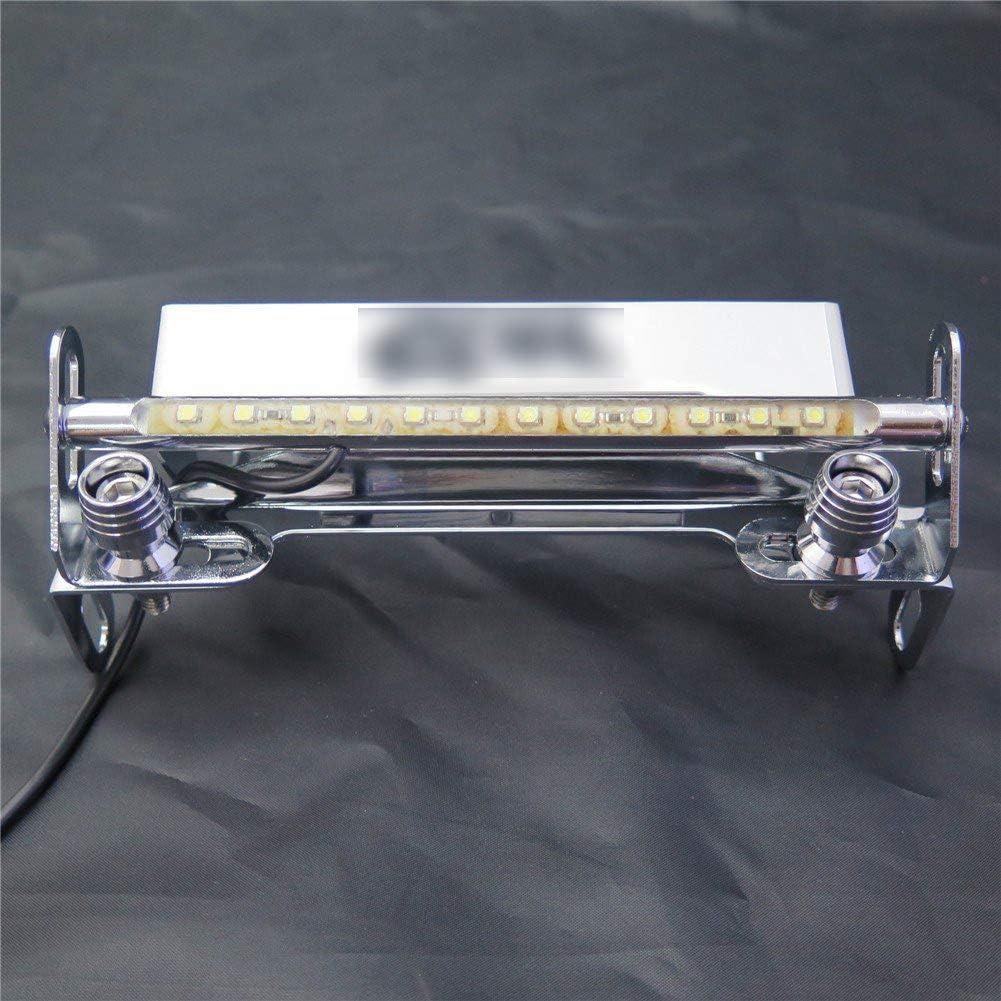 XKMT-LED Light Chrome Fender Eliminator Tidy Tail License Plate Tag Bracket HolderCBR Logo Compatible With 2003-2006 Honda CBR 600RR// 2004-2007 Honda CBR 1000RR B01N53RJND