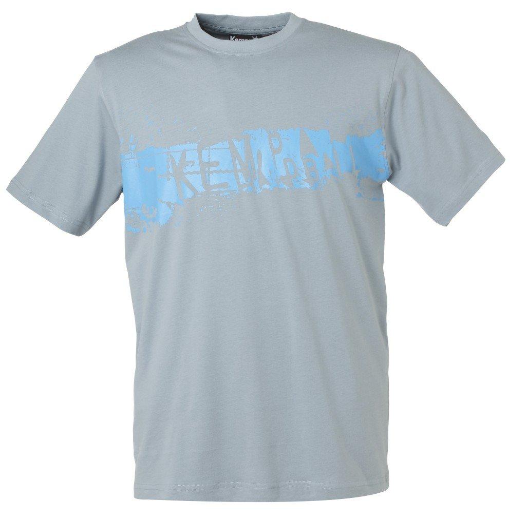 Kempa Kinder T-Shirt Splash silberblau/cyan XXS 200202104