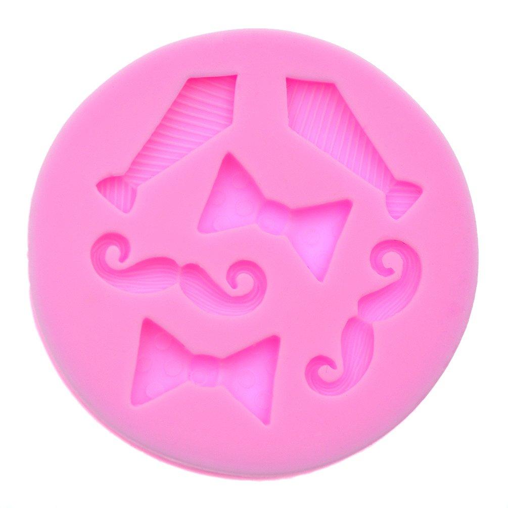 ynuth silicona forma Fundición para barba corbata pajarita rosa ...