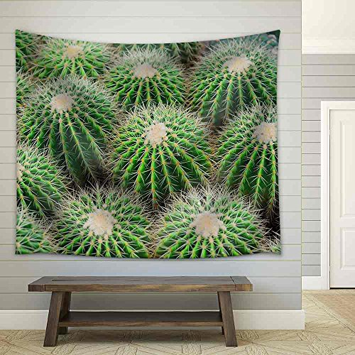 View of a Cactus Fabric Wall Tapestry