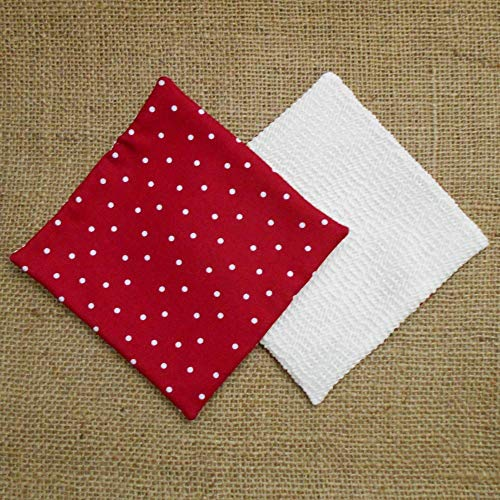 Red With White Polka Dots Jar Opener, Lid Gripper, Set of 2 ()