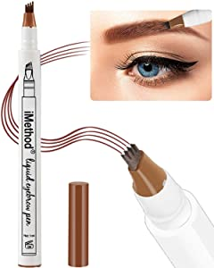 Eyebrow Tattoo Pen - iMethod Microblading Eyebrow Pencil with a Micro-Fork Tip Applicator Creates Natural Looking Brows Effortlessly and Stays on All Day