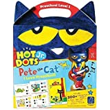Educational Insights Hot Dots Jr. Pete The Cat - I Love Preschool Set with Interactive Pen Included, 200+ Multi-Subject Lessons, Homeschool & Preschool Readiness, Ages 3+