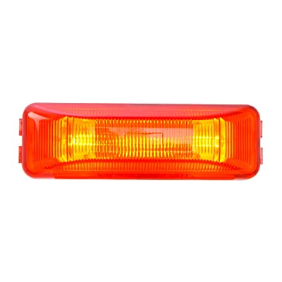 Grand General 80345 Red Sealed Light (Rectangle 2 Bulbs Marker): Automotive