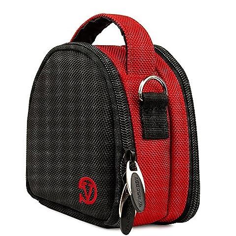 Red Shoulder Handbag Travel Case for Ion 1011L / 2034 / Air Pro Lite Wi-Fi Camera - Ultra Pro Mini Helmet
