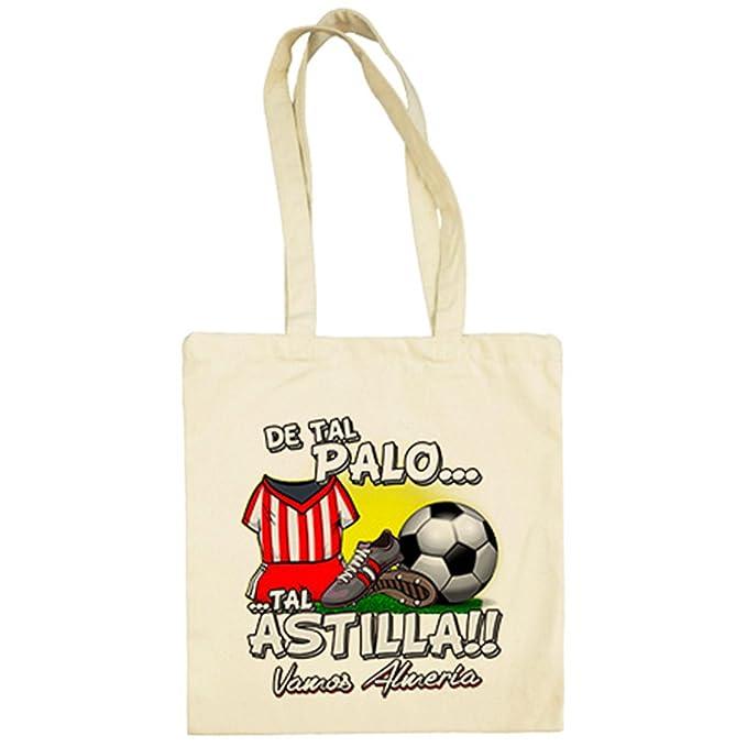 Bolsa de tela De tal palo tal astilla Almería fútbol - Beige, 38 x 42 cm: Amazon.es: Ropa y accesorios
