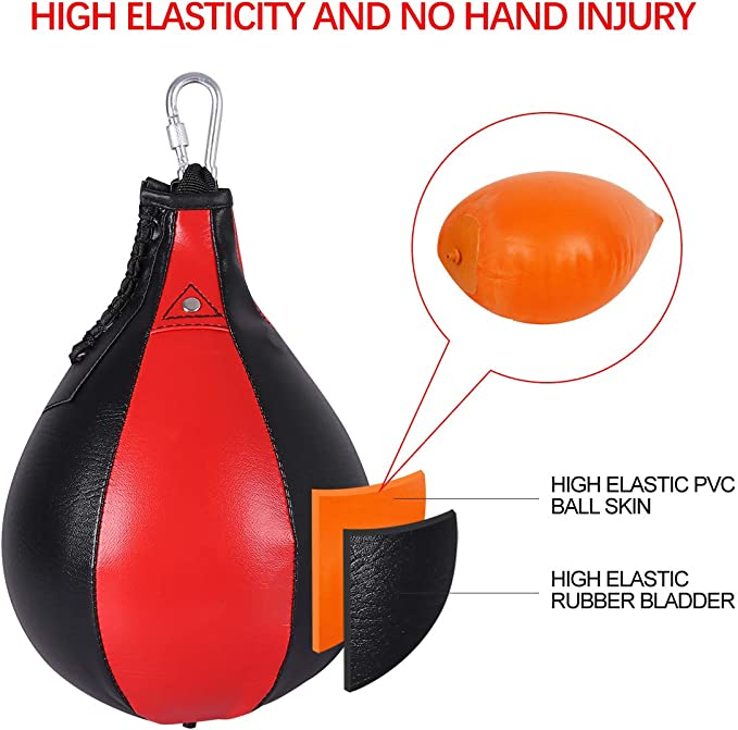 Boxing Training Leather Punching Ball Double End Pear Shape Hanging Fight Ball Speed Ball