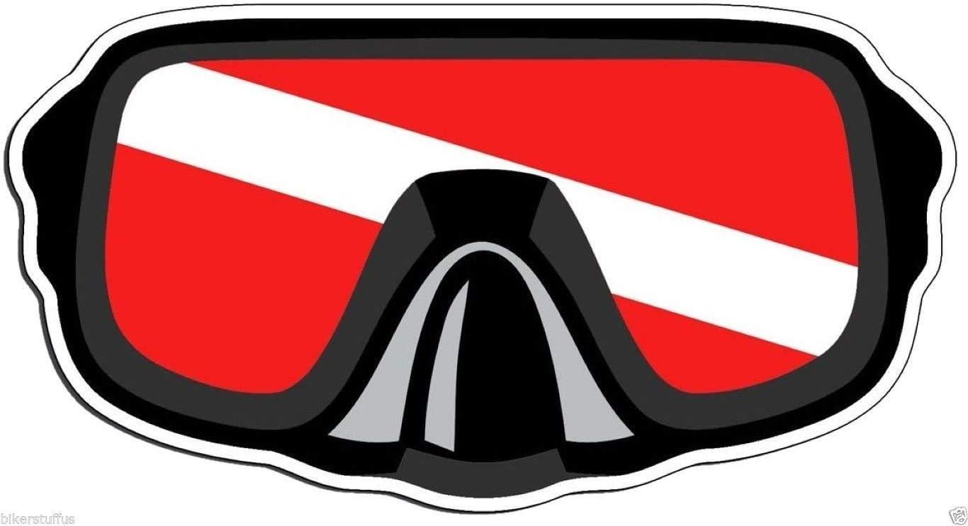 Scuba Diver Down Flag Sticker Dive Diving Car Truck Laptop Window Bumper Decal