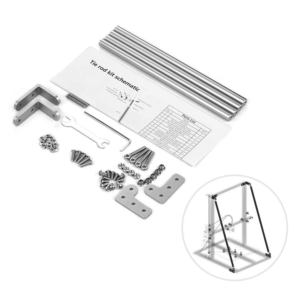 CR-10S Fesjoy Kit de varilla de tracci/ón de soporte de perfil de aluminio Piezas de la impresora 3D Accesorios para Creality 3D CR-10 CR-10S4