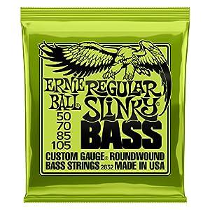 Ernie Ball Regular Slinky Nickel Wunde E-Bass Saiten – 50-105 Gauge