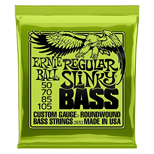 4 Strings Acoustic Bass - Ernie Ball Regular Slinky Nickel Wound Bass Set, .050 - .105