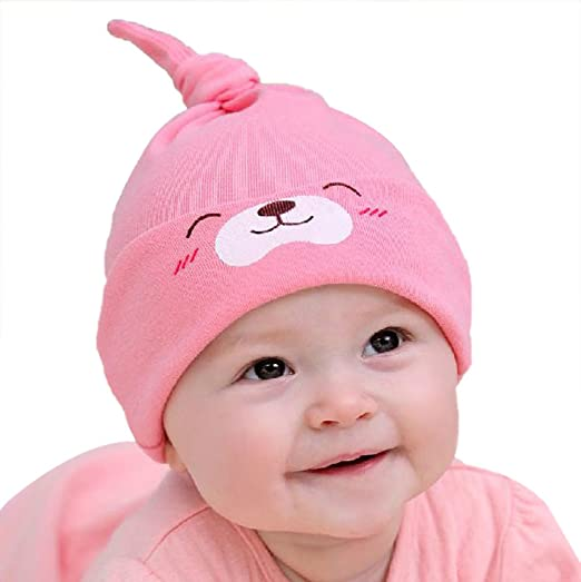0445f0c712869f Image Unavailable. Image not available for. Color: Yonger Newborn Baby  Sleep Cap Cotton Baby Girls Hat ...