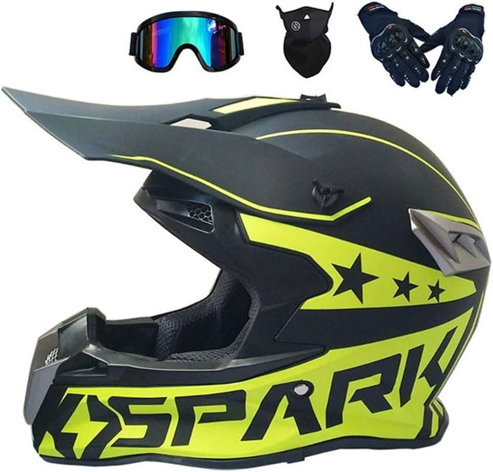 Casco MTB Enduro Negro/ 4 Pcs, Casco Motocross Adulto/Gafas ...