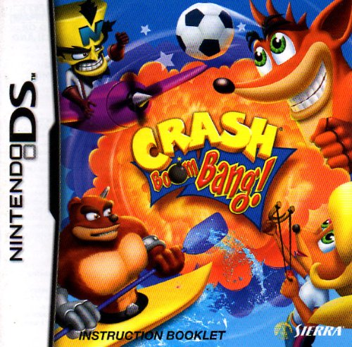 Crash Boom Bang! DS Instruction Booklet (Nintendo DS Manual ONLY - NO GAME) Pamphlet - NO GAME INCLUDED