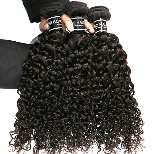 BQ HAIR Deep Curly 360 Frontal with Bundles 8A 100% Unprocessed Virgin Brazilian Human Hair -3 Bundles with 360 Lace Frontal Closure Pre Plucked (18''20''22''&16'') by BQ HAIR (Image #3)