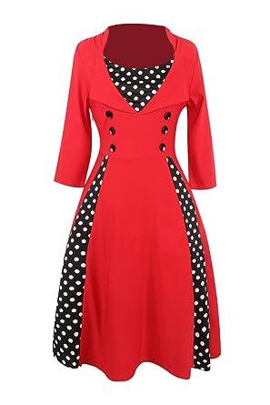 Vintage kleid weinrot