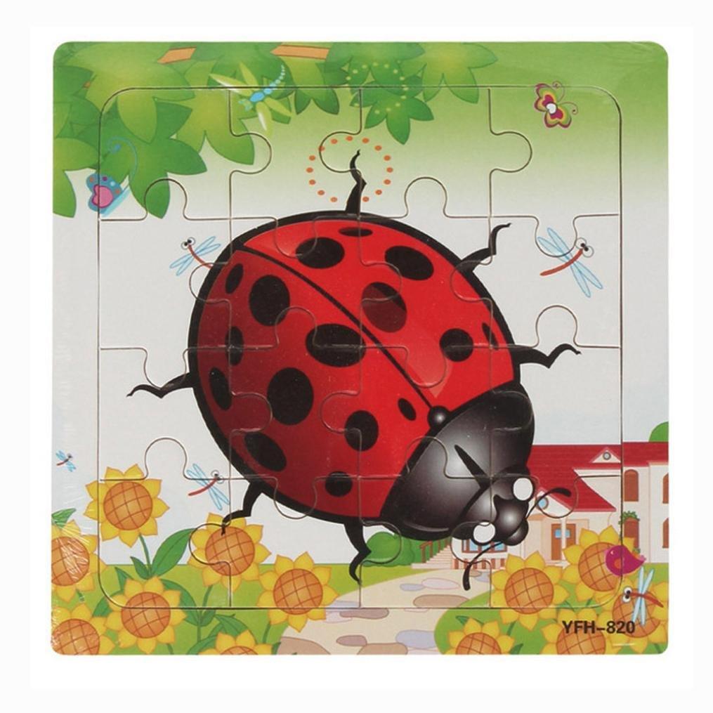 AMA(TM) Wooden Puzzle Educational Developmental Baby Kids Training Toy Christmas Gift (B)