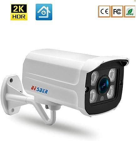 HL Caja de Metal Cámara IP IP67 a Prueba de Agua, cámara CCTV para Exteriores, visión Nocturna, vigilancia de Video ONVIF P2P, Equipo de Seguridad H.265,1080P: Amazon.es: Hogar