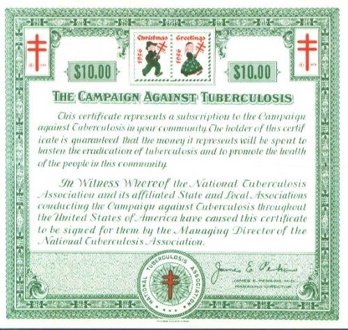 Christmas Seal Bond Crusade Double-Barred Cross -
