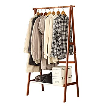 Teng Peng Coat Rack Solid Wood Floor Racks Modern Minimalist Hanger Racks  Floor Hall Interior Bedroom