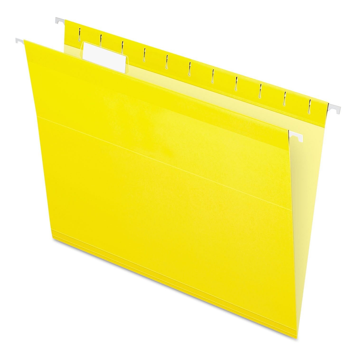 Pendaflex Reinforced Hanging File Folders, Letter Size, Yellow, 1/5 Cut, 25/BX (4152 1/5 YEL)