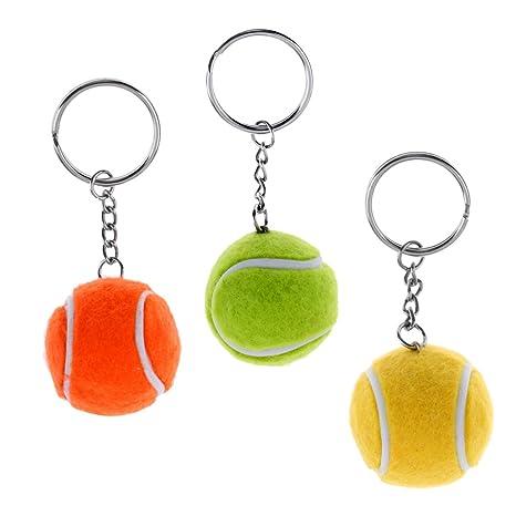 MagiDeal 3 Piezas de Llavero En Forma de Pelota de Tenis ...