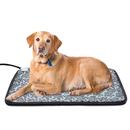 Yichang Heating Pad for Dogs and Cats Electric Heated Pet Beds Warming Pet Mats Adjustable Safety Waterproof Chew Resistant Steel Cord