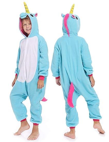 784961f85389 Amazon.com  Kids Unisex Unicorn One Piece Sleepwear Cosplay ...