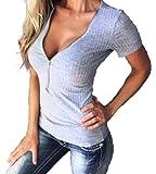 【Smile LaLa】 レディース Tシャツ トップス 半袖 セクシー おしゃれ 無地 夏 ゆったり 大きい サイズ