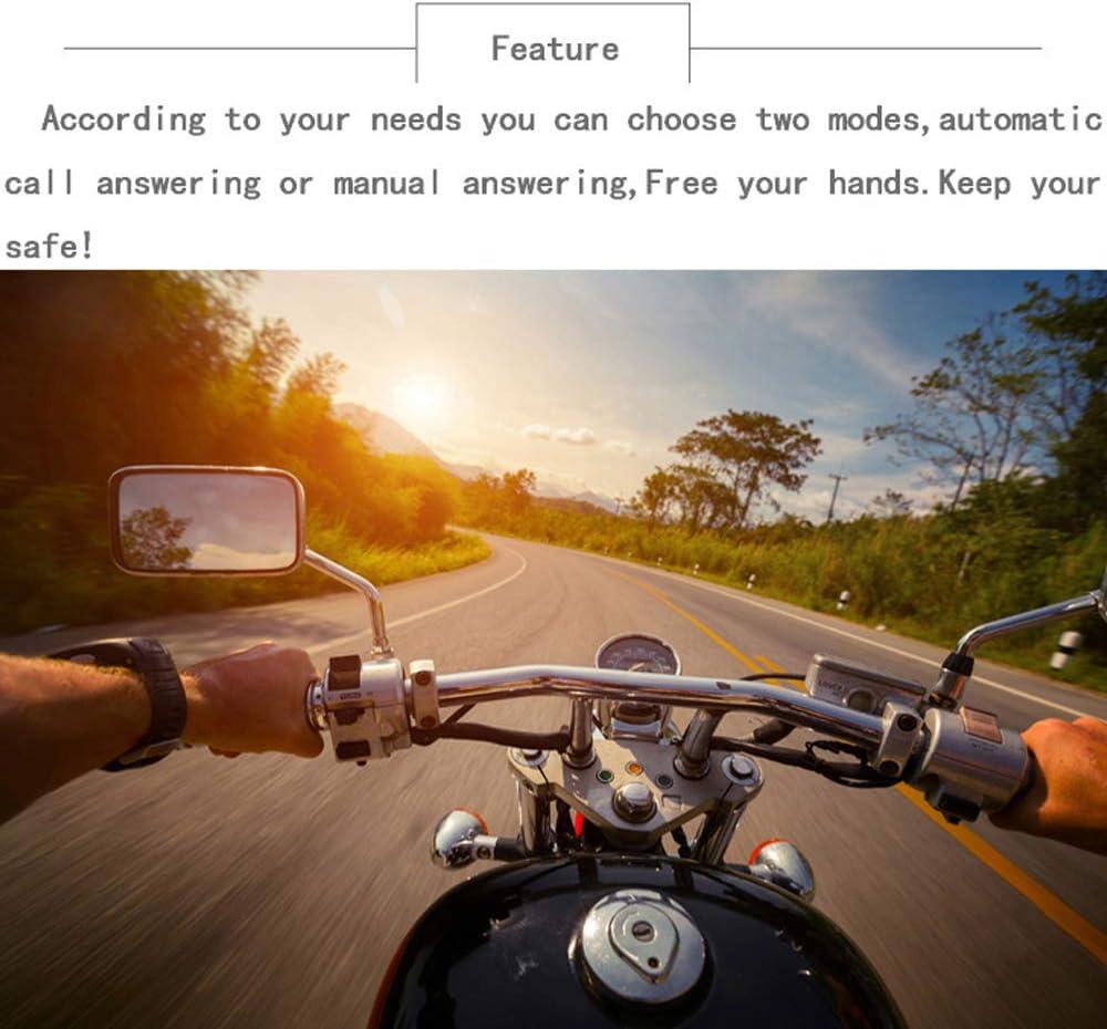 Doppia Visiera Moto Casco 4.2 EDR BT Cuffia con Microfono Auricolare per Casco Vivavoce Controllo Chiamate KKmoon Auricolare per Casco Moto